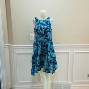 Eva franco blue swing dress cotton silk